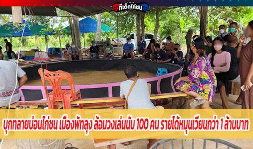 บุกทลายบ่อนไก่ชน เมืองพัทลุง ล้อมวงเล่นนับ 100 คน รายได้หมุนเวียนกว่า 1 ล้านบาท